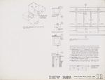 Construction Document: West elevation main entry; Graphite on vellum