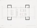 Alternate Garage plan; Ink on vellum