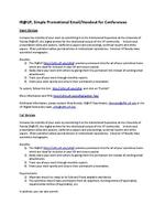 IR@UF, Simple Promotional Email/Handout for Conferences