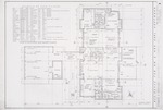 Floor plan and finish schedule;  Graphite and ink on vellum