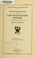 Code of fair competition for the lace manufacturing industry