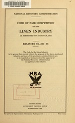 Code of fair competition for the linen industry
