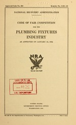Code of fair competition for the plumbing fixtures industry