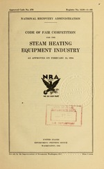 Code of fair competition for the steam heating equipment industry