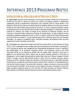 Program Notes or Proceedings - Interface 2013 + Digital Humanities Day