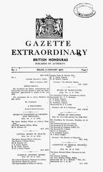 Government gazette, British Honduras