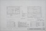 Joaneda House Restoration - Attic Floor Framing Plan; Roof Framing Plan