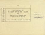 DeMesa-Sanchez House - Lettering Layout