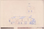 DeMesa-Sanchez House - Sections; Transverse Section (North/South); Longitudinal Section (East/West)