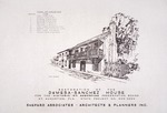 DeMesa-Sanchez House - Restoration of the DeMesa-Sanchez House (cover sheet with perspective elevation)