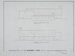 1580 Wooden Fort - Preliminary Study; West Elevation; East Elevation