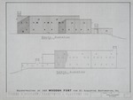1580 Wooden Fort - Preliminary Study; North Elevation; South Elevation