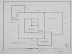 1580 Wooden Fort - Preliminary Study; First Floor Plan