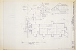 Segui-Kirby Smith House (City Library) - Third Floor Plan; Third Floor Building Section
