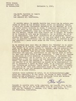 "Letter to María Mantilla de Romero from Félix Lizaso, November 3, 1960, mentions Francis J. Donahue and article ""Martí vuelve a Nueva York."""