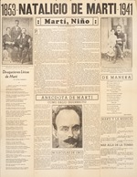 Newspaper clipping, various articles about Martí.