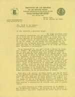Letter to María Mantilla de Romero from Jorge Manach.