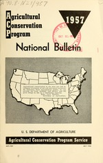 Agricultural conservation program, national bulletin