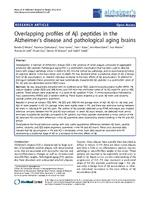 Overlapping profiles of Aβ peptides in the Alzheimer's disease and pathological aging brains