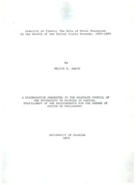 Scarcity of plenty; the role of metal resources in the growth of the United States economy, 1860-1960, by Melvin W. Harju