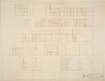 "Interior Elevations - Hall Enterprises Spec House ""F R"" (Robert C. Broward, Architect, Job #5702)"