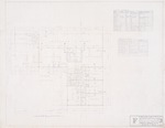 "Floor Plan - Hall Enterprises Spec House ""F Alternate No. 1"" (Robert C. Broward, Architect, Job #5702)"