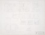 "Interior Elevations - Hall Enterprises Spec House ""F Alternate No. 1"" (Robert C. Broward, Architect, Job #5702)"