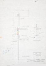 Design for a Typical Street Sign - Hall Enterprises, Laurel Grove development (Robert C. Broward, Architect, Job #5702)