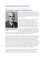 George Fortune obituary