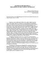 LEGEND OF THE TEPOZTECO: MESOAMERICAN AND CATHOLIC MYTHOLOGY