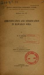 Ammonification and nitrification in Hawaiian soils