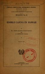 Edible canna in Hawaii
