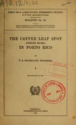 The coffee leaf spot (Stilbella flavida) in Porto Rico