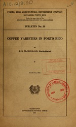 Coffee varieties in Porto Rico