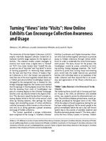 "Turning ""Views"" into ""Visits"": How Online Exhibits Can Encourage Collection Awareness and Usage Proceedings Paper"