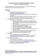 Meeting Notes for the Data Management/Curation Task Force, Feb. 10, 2014