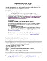Data Management / Curation Task Force, Meeting Notes, May 12, 2014