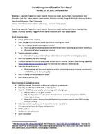Data Management / Curation Task Force, Meeting Notes, July 14, 2014 (Notes)