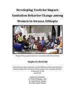 Developing Tools for Impact: Sanitation Behavior Change among Women in Awassa, Ethiopia