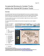 Curatorial Review & Update Tools, within the SobekCM Curator Tools