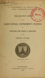 Organization lists of the agricultural experiment stations and institutions with courses in agriculture in the United States