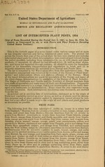 List of intercepted plant pests