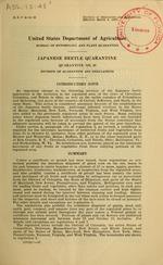 Japanese beetle quarantine