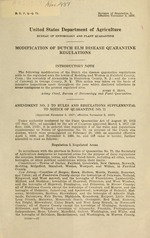 Modification of dutch elm disease quarantine regulations