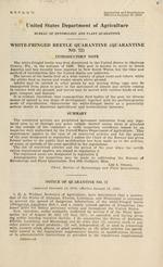 White-fringed beetle quarantine (quarantine no. 72)