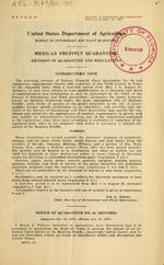 Mexican fruitfly quarantine