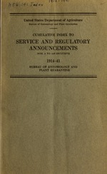 Cumulative index to service and regulatory announcements
