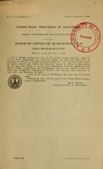 Notice of lifting of quarantine no. 53