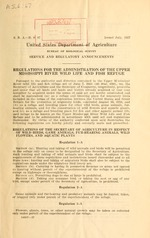 Regulations for the administration of the Upper Mississippi River Wild Life and Fish Refuge