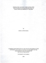 Immigration and education legislation and its effects on policies relating to undocumented immigrant children